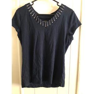 Dressbarn T shirt with Studs